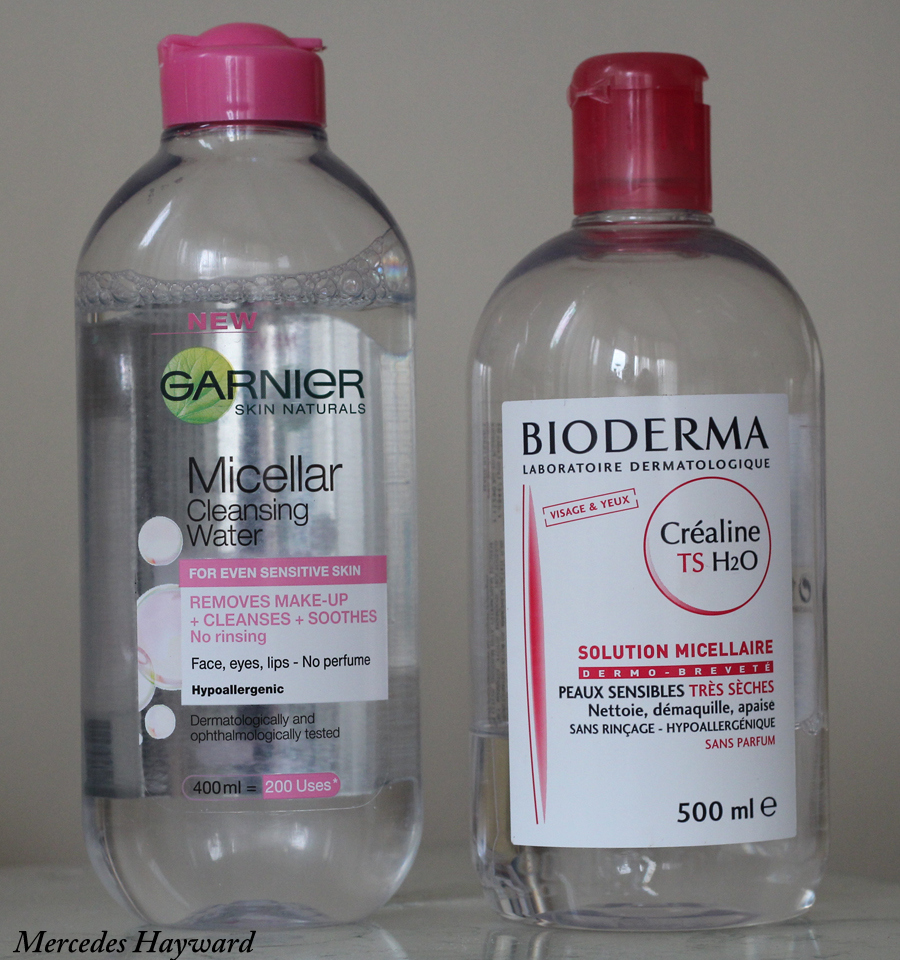 Bioderma and Garnier Micellar Cleansing Water