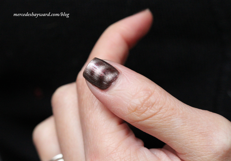 Barry M Nail Paint In 346 Magnetic Sparkle Red