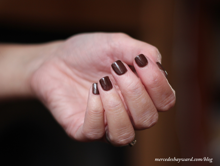 Gel Nail Overlay Using Espresso (937) By Izabelle Hammon